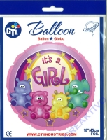 Folienballon 45cm Its a girl