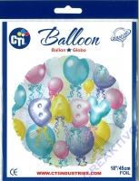 Folienballon 45cm BABY