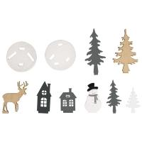 Holz-Steckteile Winterwald
