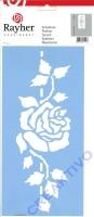 Schablone 15 x 30 cm Rose