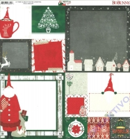 Bo Bunny Scrapbooking-Papier Merry & Bright - Father Christmas