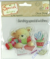 Clear Stamp Special delivery - Stamping Teddy