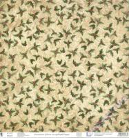 Premium Glitter Scrapbook paper Christmas robin 313