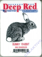 Deep Red Clingstamps - Bunny Rabbit