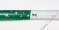 Transparentpapier Silver Stars grün