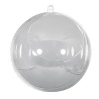 Plastik-Kugel 12cm 2-teilig mit Ausschnitt