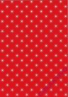 Bastelkarton Holografiestern rot DIN A4
