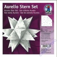 Aurelio Stern Set 15x15cm Transparentpapier Sterne silber