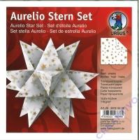 Aurelio Stern Set 15x15cm Transparentpapier Sterne gold