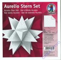Aurelio Stern Set 15x15cm Transparentpapier White line