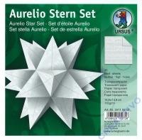 Aurelio Stern Set 15x15cm Transparentpapier Noten weiß
