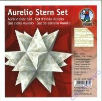 Aurelio Stern Set 15x15cm Transparentpapier Noten gold