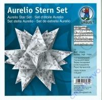 Aurelio Stern Set 15x15cm Transparentpapier Noten schwarz