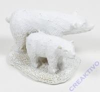 Polyresin-Miniatur Eisbären