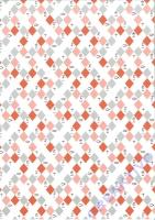 Designkarton Jesus Orange DinA4 Motiv 1