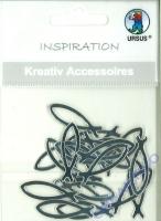 Kreativ Accessoires Motiv 28 - Fische silber