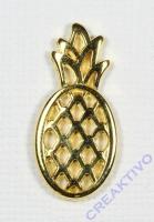 Metall-Anhänger Ananas gold