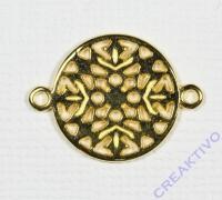 Metall-Zierelement Ornament rund gold