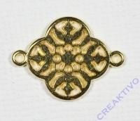 Metall-Zierelement Ornament Blume gold