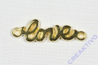 Metall-Zierelement Love gold