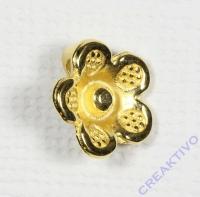 Metall-Zierelement Blume gold