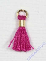 Mini-Quaste mit Öse pink/gold