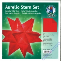 Aurelio Stern Set 20x20cm transparent rot