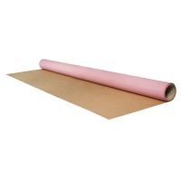 Geschenkpapier Rolle Kraft englisch rosa