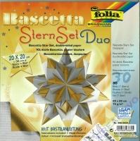 Bascetta Stern Set Duo 20x20cm gold/silber (Restbestand)