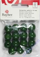 Rayher Holzperlen FSC, poliert 16mm 15St dunkelgrün
