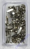 Rayher Brads rund 4+8 mm 75 Stück silber