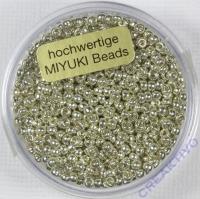 Miyuki Beads 2,2mm 12g metallic silver