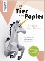 Topp 19919 - Tier aus Papier - Pferd oder Einhorn (Bastel-Set)