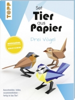 Topp 19918 - Tier aus Papier - drei Vögel (Bastel-Set)