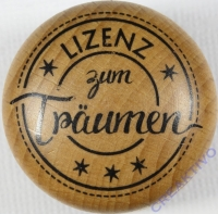 Stempel Lizenz zum Träumen, 3cm ø