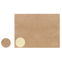 Blanko-Sticker kraft