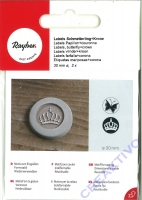Label Schmetterling + Krone