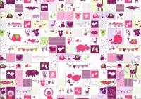 Motiv-Fotokarton 300g/qm 50x70cm Baby rosa/grün
