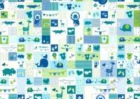 Motiv-Fotokarton 300g/qm 50x70cm Baby blau/grün