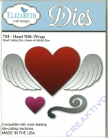 Steel cutting die Heart with wings