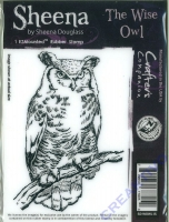 Sheena ZMounted Rubber Stamp - The wise owl