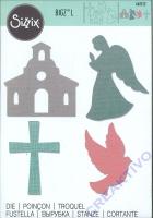 Sizzix BIGZ L Church Set - Kirche, Engel, Taube, Kreuz