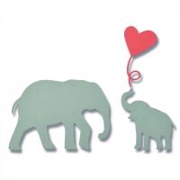 Sizzix Thinlits Die Set 3PK - Baby Elephant