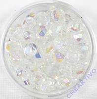 Glasschliffperle 6mm bedampft kristall AB