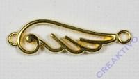 Metall-Zierelement Flügel geschwungen gold