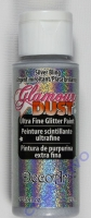 DecoArt Glamour Dust Ultra Fine Glitter Paint 59ml - silver glitz