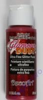 DecoArt Glamour Dust Ultra Fine Glitter Paint 59ml - Sizzling Red