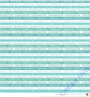 Scrapbooking Papier Konfirmation türkis (Restbestand)