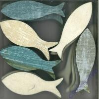 Holzfische 24 Stück 6,8x2,3cm
