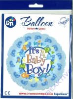 Folienballon Its a boy 45cm